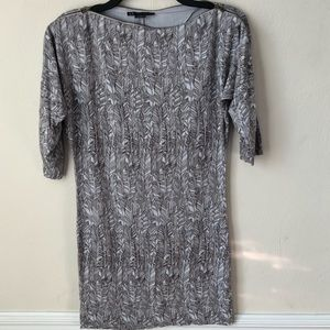A/X Armani Exchange 3/4 Sleeve Bodycon Dress